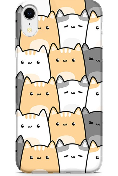 Kılıfland Apple iPhone XR Kılıf Silikon Resimli Kapak Pretty Cats - 1179