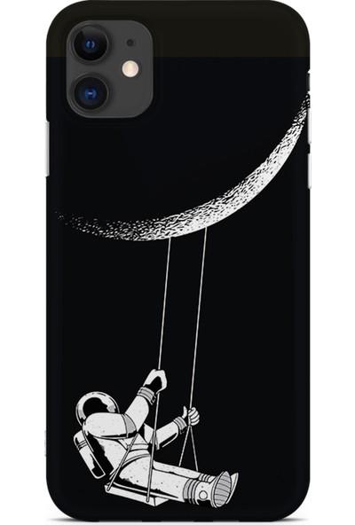 Kılıfland Apple iPhone 11 Kılıf Silikon Resimli Kapak Moon Astronaut - 519