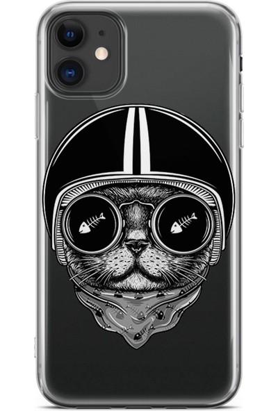 Kılıfland Apple iPhone 11 Kılıf Silikon Resimli Kapak Fish And Cat - 855