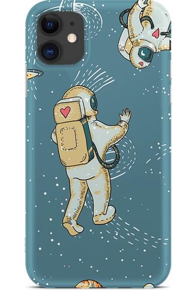 Kılıfland Apple iPhone 11 Kılıf Silikon Resimli Kapak I Love Astrounaut - 880
