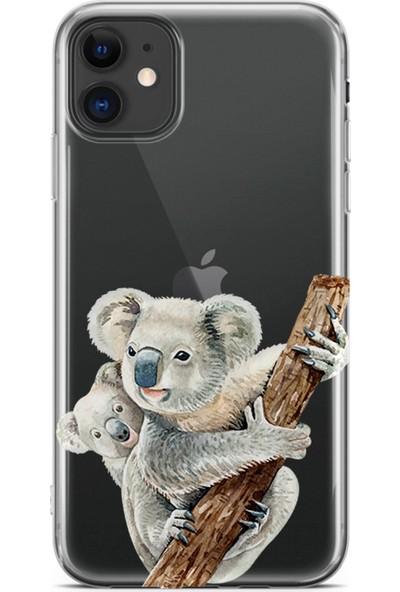 Kılıfland Apple iPhone 11 Kılıf Silikon Resimli Kapak Koalas - 1125