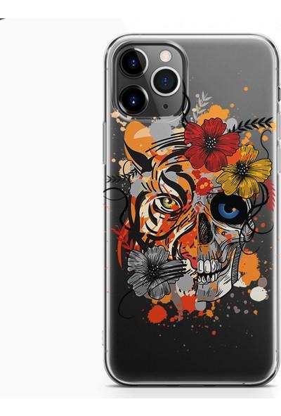 Kılıfland Apple iPhone 11 Pro Kılıf Silikon Resimli Kapak Mandala Skull - 225