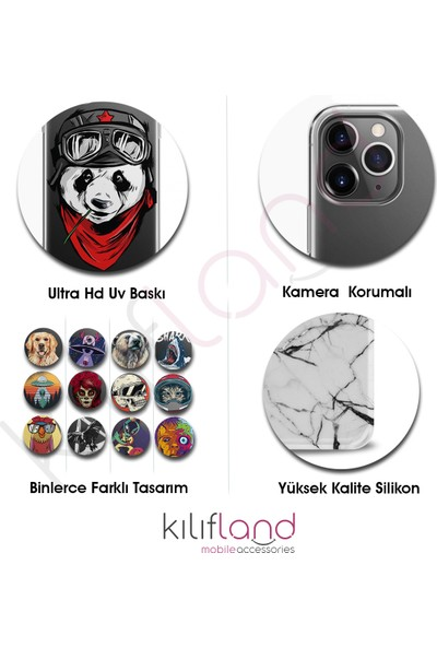 Kılıfland Apple iPhone 11 Pro Kılıf Silikon Resimli Kapak Elephant Mandala - 415