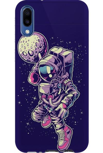 Kılıfland Samsung Galaxy M10 Kılıf M107F Silikon Resimli Kapak Astronaut Plater - 849