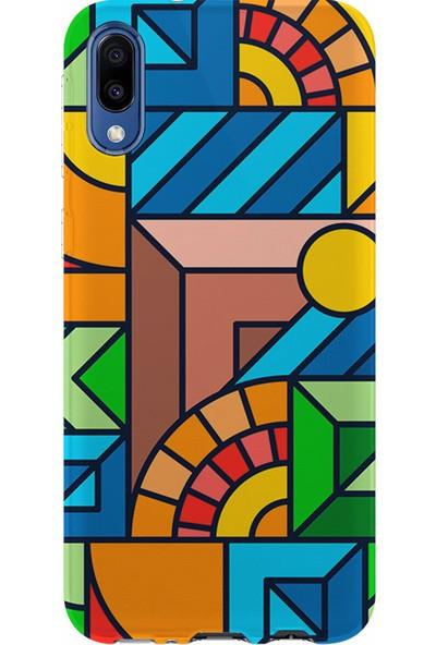 Kılıfland Samsung Galaxy M10 Kılıf M107F Silikon Resimli Kapak New Patchwork - 1069