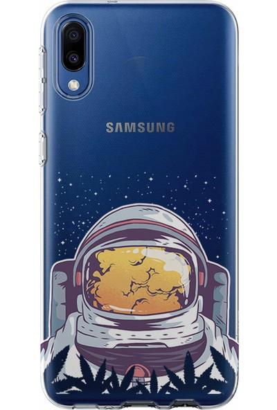 Kılıfland Samsung Galaxy A20E Kılıf A202F Silikon Resimli Kapak Astronaut Smoke - 265