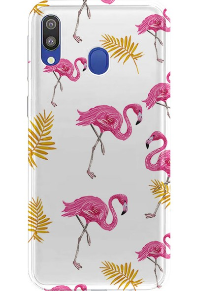 Kılıfland Samsung Galaxy A10S Kılıf A107F Silikon Resimli Kapak Flamingos Pattern - 302