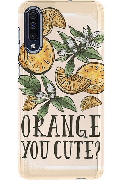 Kılıfland Samsung Galaxy A50 Kılıf A505F Silikon Resimli Kapak Orange You Cute - 541