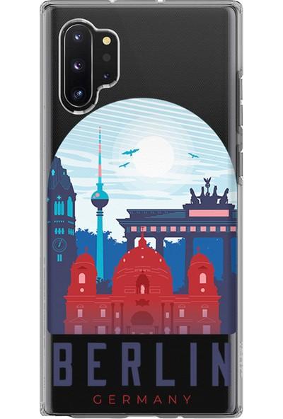 Kılıfland Samsung Galaxy Note 10 Plus Kılıf N975F Silikon Resimli Kapak Berlin - 46