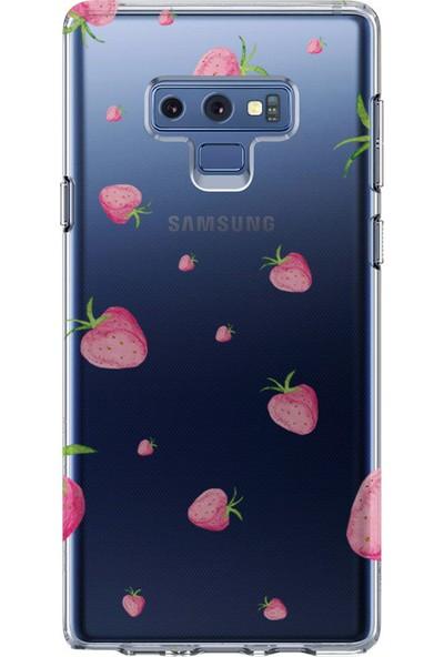 Kılıfland Samsung Galaxy Note 9 Kılıf N960F Silikon Resimli Kapak Strawberry's - 117