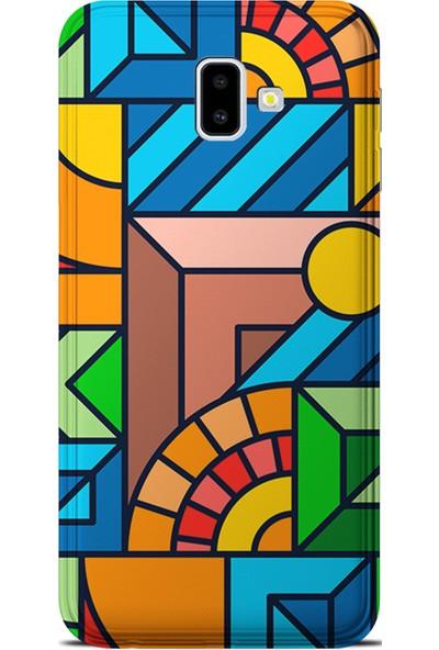 Kılıfland Samsung Galaxy J6 Plus Kılıf J610F Silikon Resimli Kapak New Patchwork - 1069