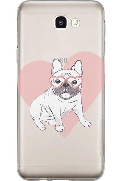 Kılıfland Samsung Galaxy J7 Prime-J7 Prime 2 Kılıf Silikon Resimli Kapak Love Dog - 989