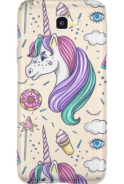 Kılıfland Samsung Galaxy J7 Prime-J7 Prime 2 Kılıf Silikon Resimli Kapak Unicorn Ice Cream - 1190