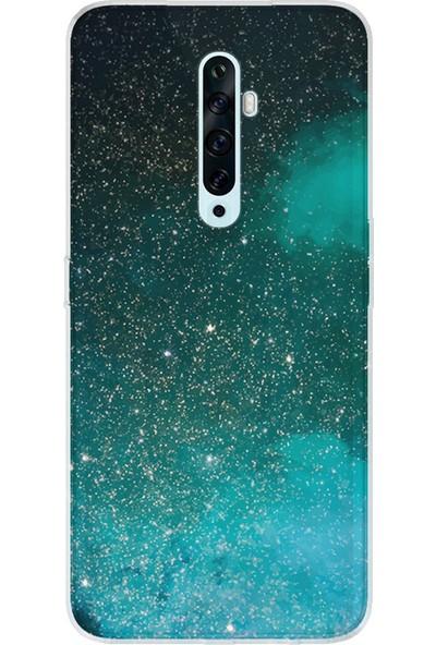 Kılıfland Oppo Reno 2Z Kılıf Silikon Resimli Kapak Green Sky - 1080