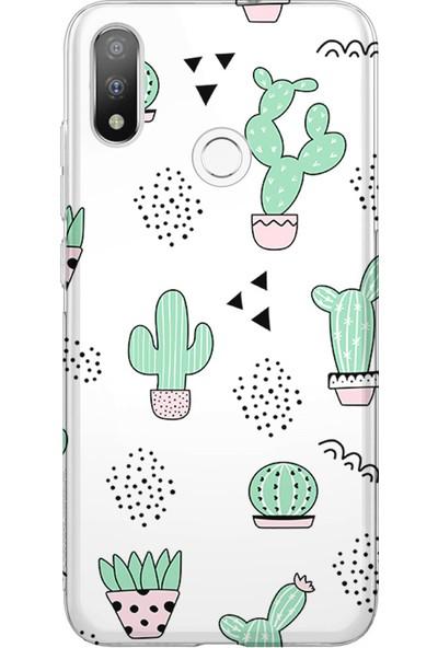 Kılıfland Casper Via A3 Plus Kılıf Silikon Desenli Resimli Lüx Kapak Cactus Pattern - 901