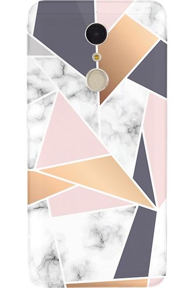 Kılıfland Casper Via G1 Plus Kılıf Silikon Desenli HD Görünüm Kapak White Gold Marble Mermer - 977