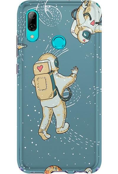 Kılıfland Huawei Y7 2019 Kılıf Silikon Desenli Resimli Lüx Kapak I Love Astrounaut - 880