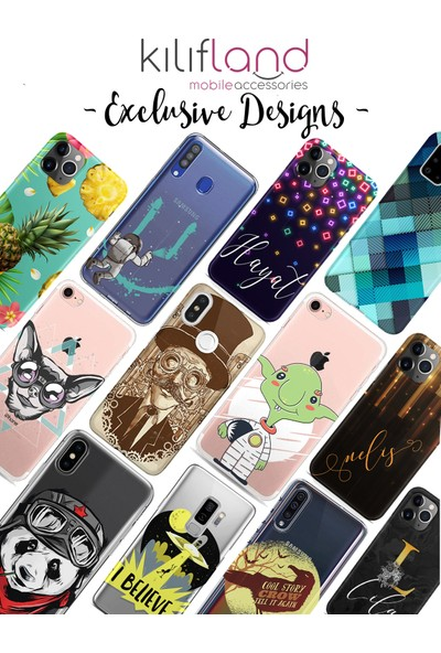 Kılıfland Samsung Galaxy C5 Kılıf Silikon Desenli Resimli Lüx Kapak Trigonum Flowers - 1045