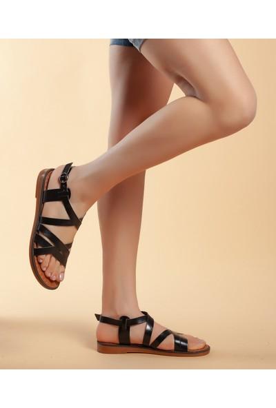 Daxtors D016 Günlük Kadın Hakiki Deri Sandalet 37