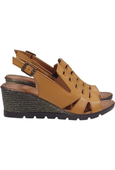 Pierre Cardin 6326 Topuklu Deri Kadın Sandalet Ayakkabı