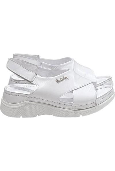 Pierre Cardin 6365 Deri Kadın Sandalet Yazlık Ayakkabı
