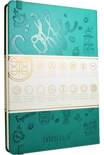 Eternal Doodle Bullet Journal 2020-2025 Takvimli A5 Noktalı Defter Emerald