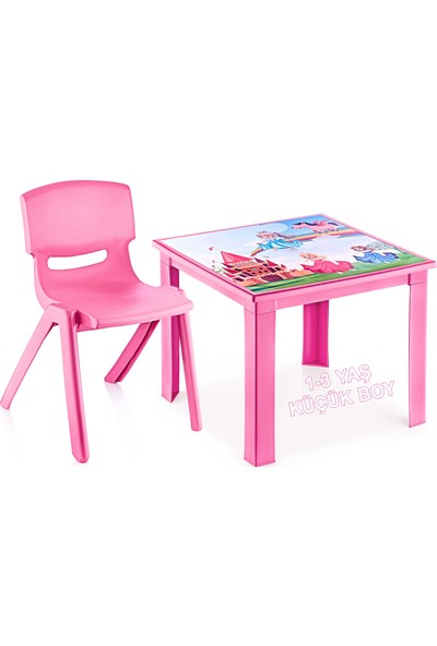 Banadabul Çocuk Masa Sandalye Takımı Pembe Prenses 1-3 Yaş