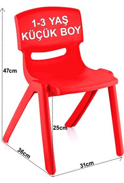 Banadabul Çocuk Masa Sandalye Takımı Kırmızı Alfabe 1-3 Yaş