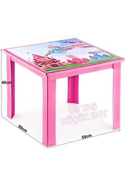 Banadabul Çocuk Masa Sandalye Takımı Pembe Prenses 2S 1-3 Yaş