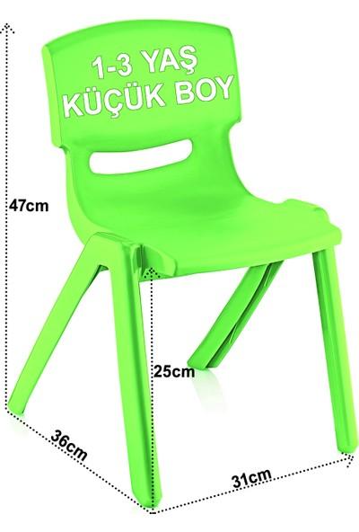 Banadabul Çocuk Masa Sandalye Takımı Yeşil Alfabe 2S 1-3 Yaş