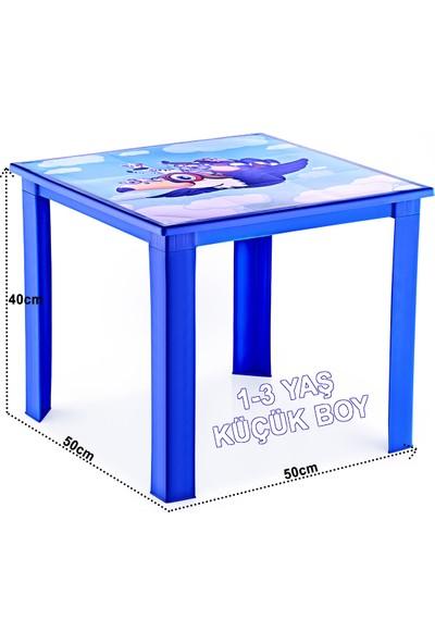 Banadabul Çocuk Masa Sandalye Takımı Mavi Karga 2S 1-3 Yaş
