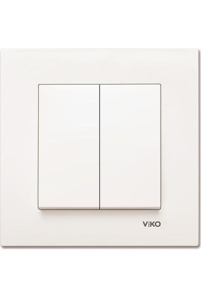 Viko Karre Meridian Beyaz Impulse Komütatör Mekanizma + Kapak Çerçevesiz
