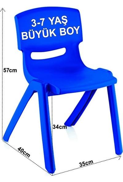 Banadabul Fiore Çocuk Masa Sandalye Takımı Mavi Araba