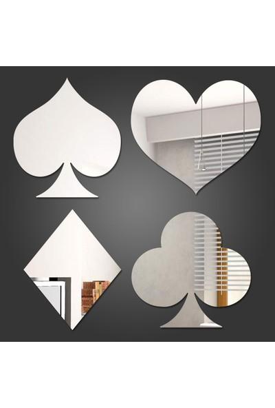 Dez Oyun Kartları Figürlü Dekoratif Akrilik Ayna