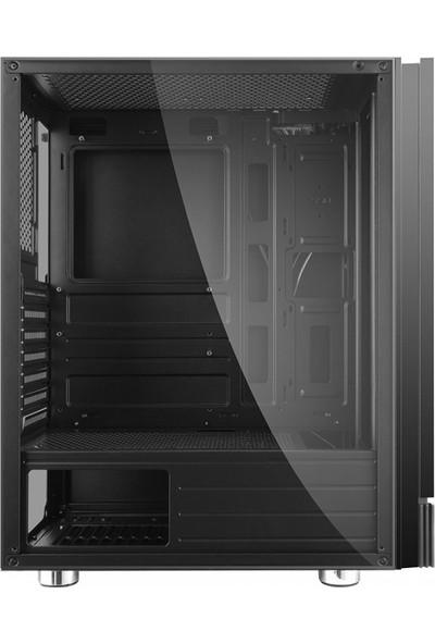 PowerBoost VK-P3301B 500W ATX USB 3.0 Mesh Fixed LED Fan Siyah Bilgisayar Kasası