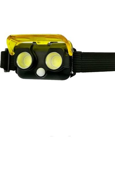 Panther 2X3W 900 Lümen Cob LED Çalışma ve Kafa Feneri Kafa Lambası 2 Renk