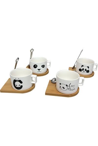 Mory Concept Kupa Bardak Panda Tasarımlı Mıknatıslı Kaşıklı