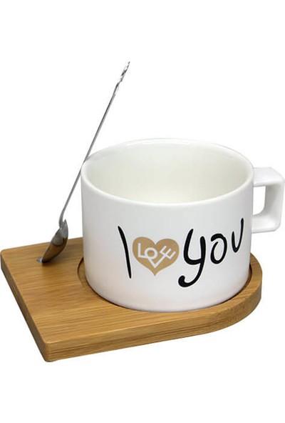 Mory Concept Kupa Bardak Set Mıknatıslı I Love You Desenli