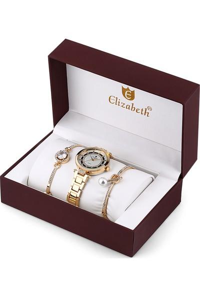 Elizabeth ElzS121806 Kadın Kol Saati Seti