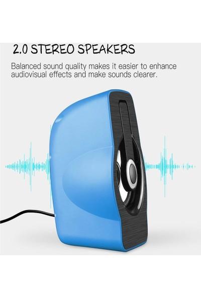 Havana FT-185 2.0 Speaker Ekstra Bass Hoparlör Ses Sistemi 1+1 - Mavi