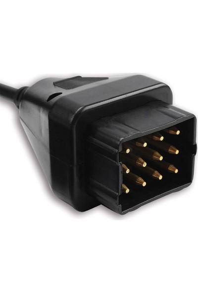 Oto Eko Renault 12 Pin - Obd2 Dönüştürücü Kablo Soketi Kamyon Delphi CanClip