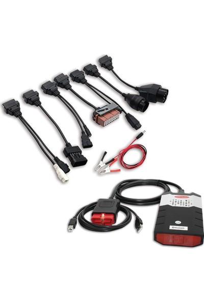 Oto Eko Delphi Araç Arıza Tespit Cihazı Bluetooth Türkçe + Binek Araç Kablo Seti
