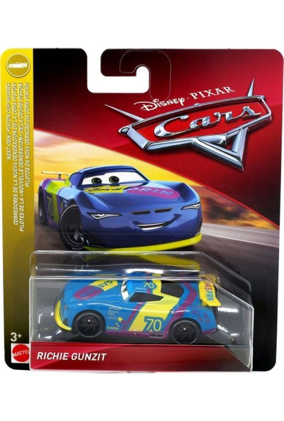 Disney Pixar Cars 3 Tekli Karakter Araçlar Richie Gunzit FLL85