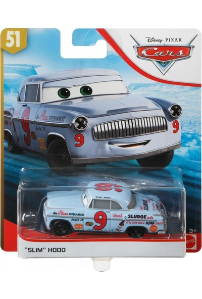Disney Pixar Cars 3 Tekli Karakter Araçlar Slım Hood GBY19