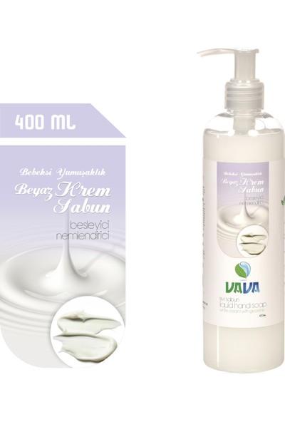 Vava Beyaz Krem Sıvı Sabun 400 ml Gliserinli