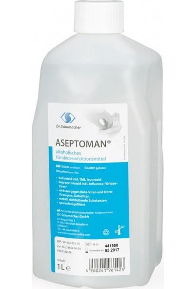 Dr.Schumacher Aseptoman 1000 ml x 12 Adet El ve Cilt Dezenfektanı + Pompa Hediyeli