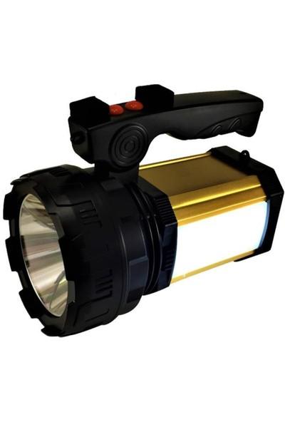 Bigsale LED Şarjlı El Feneri Powerbank Sos ve Uzun Menzil El Feneri 25W