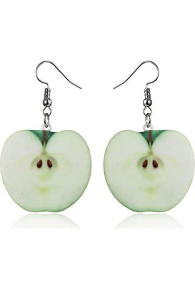 Bengü Accessories Yeşil Elma Küpe