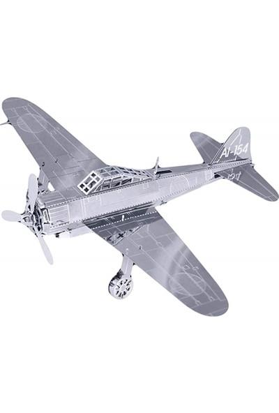 Hobi24 3D Lazer Kesim Metal Maket Uçak D101