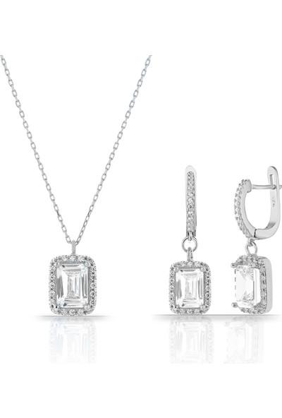 Rachon Azuris 925 Ayar Gümüş Pırlanta Montür Set